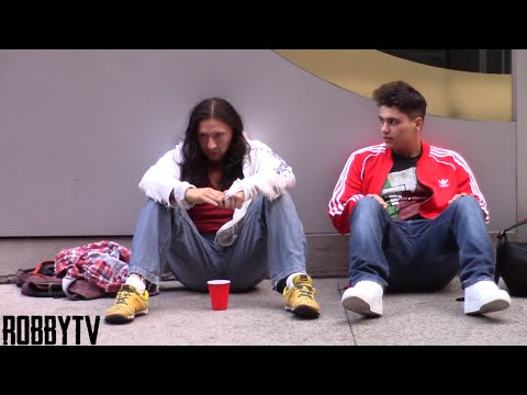 Asking Strangers For Money VS Asking The Homeless For Money! (Social Experiment)