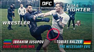 Dagestani-AIRLINES vs. German-EVIL | STREETFIGHT MMA | DFC