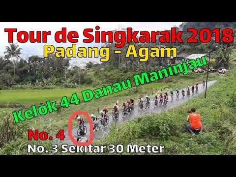 Tour de Singkarak 2018 [ Etape 4 ] Tanjakan Kelok 44 Maninjau Serta turunnya Kabut dan Hujan Mp3