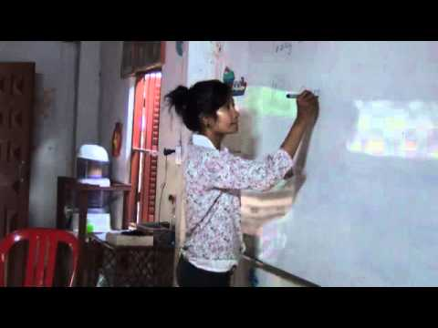 In the classroom learning English in Cambodia