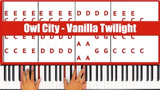 ♫ EASY - How To Play Vanilla Twilight Owl City Piano Tutorial Lesson - PGN Piano