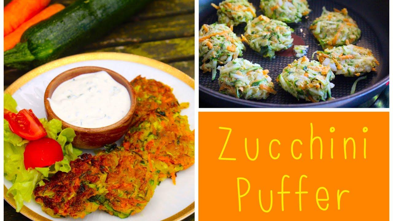 Zucchini mais puffer rezept