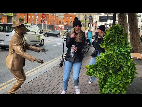Scared the Life out of them. Golden Statue and Bushman Prank