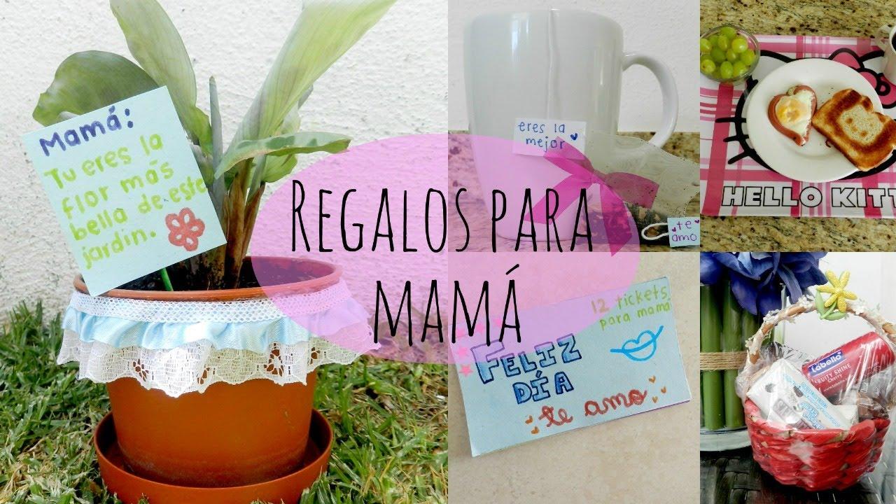 5 regalos f ciles para el d a de las madres youtube for Ideas para mama