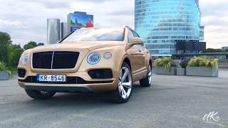 Bentley Bentayga Diesel 2017 Test Drive - Woman Driving Luxury sports car