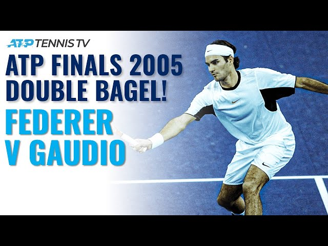 Federer v Gaudio 2005: The Only Double Bagel in ATP Finals History!