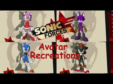 Amy, Big, Shadow And Boom Sonic Avatar Recreations - Sonic Forces