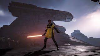 Star Wars Jedi: FALLEN ORDER - Exploring the Venator Wreckage @ 1080p ✔
