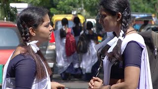 'School Time'-Thulasi and Deepa in school uniform I Best of Thendral