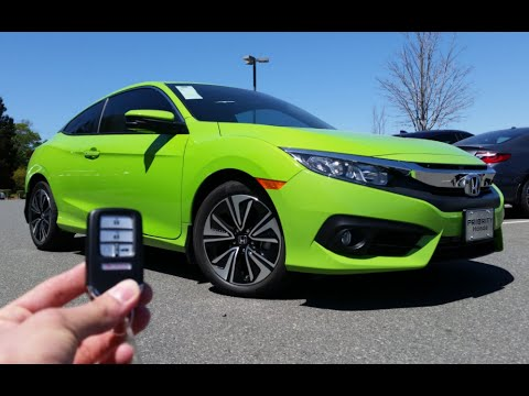 2016 Honda Civic Coupe Ex T Start Up Test Drive And Review