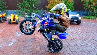 Baby Biker: 4-Year-Old ride on Pocket Bike and Cross Bike Stunts, Drifts & wheelies