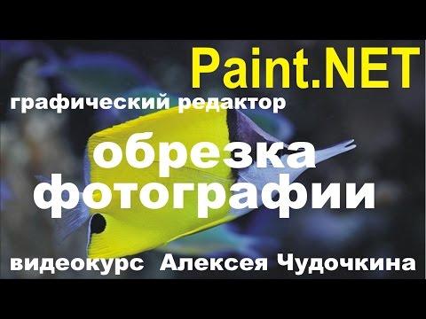 Как обрезать  фото в Paint.NET