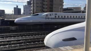 N700A G18編成  全検明け試運転上り  三河安城駅発車