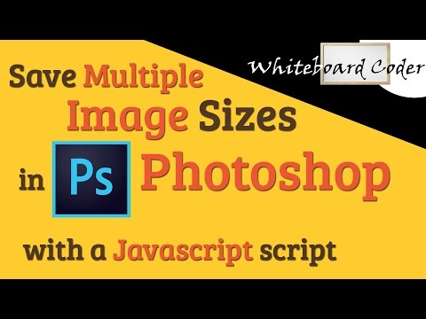 Save Multiple Image Sizes in Photoshop with a javascript script