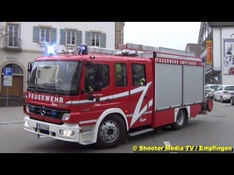 MANV IN EMPFINGEN - Feuerwehr & Rettungsdienst mit Großaufgebot [Verletztenversorgung DRK FDS]