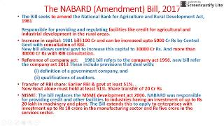 rbi grade b general and economic awareness part 2 the nabard bill 2017