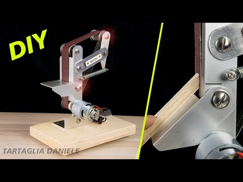 HOW TO MAKE Mini Electric Belt Sander DIY (smerigliatrice a nastro)