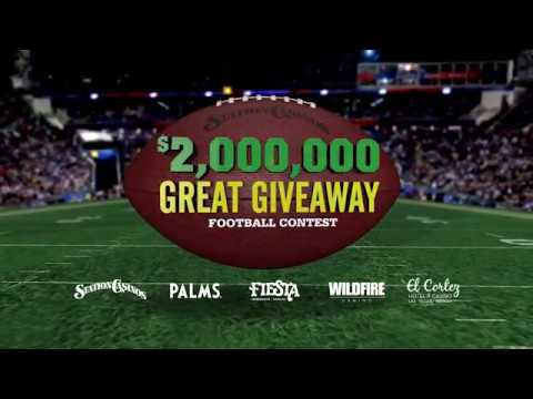 Station Casinos Great Giveaway Football Contest 2018