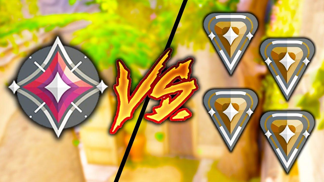 Valorant: 1 IMMORTAL Player vs 4 BRONZE Players - Who Wins?