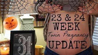 23 & 24 Week Twin Pregnancy Update