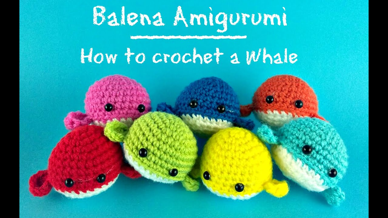 How to crotchet a little whale - YouTube