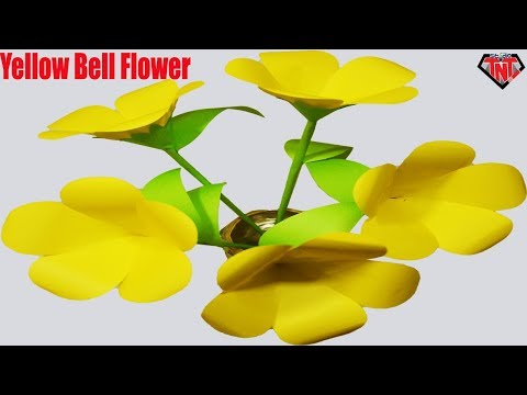 How To Make Paper Yellow Bell Flower || DIY Paper Origami Flower