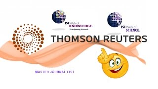 ISI Thomson Reuters: Où Publier ?  journal indexé ISI (arabe)