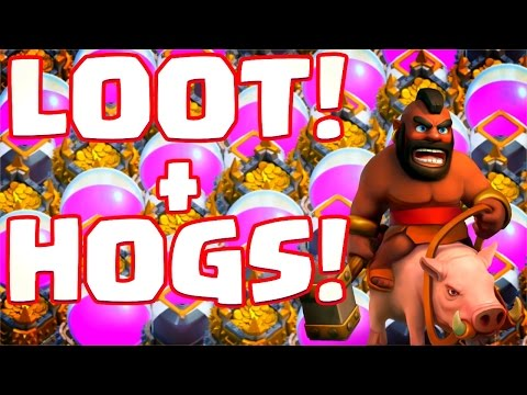 STEALING XMAS LOOT! Hog Rider Madness! Clash of Clans