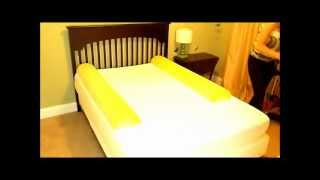 Stay Put Big Girl And Boy Bed - Semicircle Bed Rail Bumper Pad For Toddler