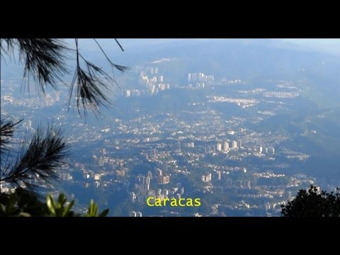 View of Caracas & Caribbean Sea from Avila Mountain