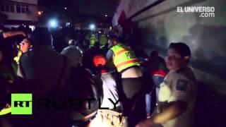 Ecuador: Bridge collapses as deadly earthquake causes chaos
