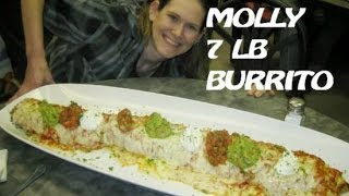 Repeat youtube video Molly Schuyler vs. 7 lb Ultimate Destroyer Burrito Challenge (RECORD TIME!)