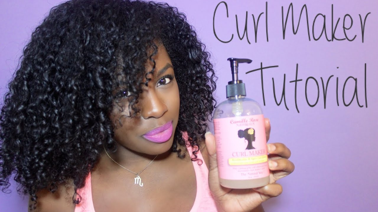 Camille Rose Naturals Curl Maker Tutorial YouTube