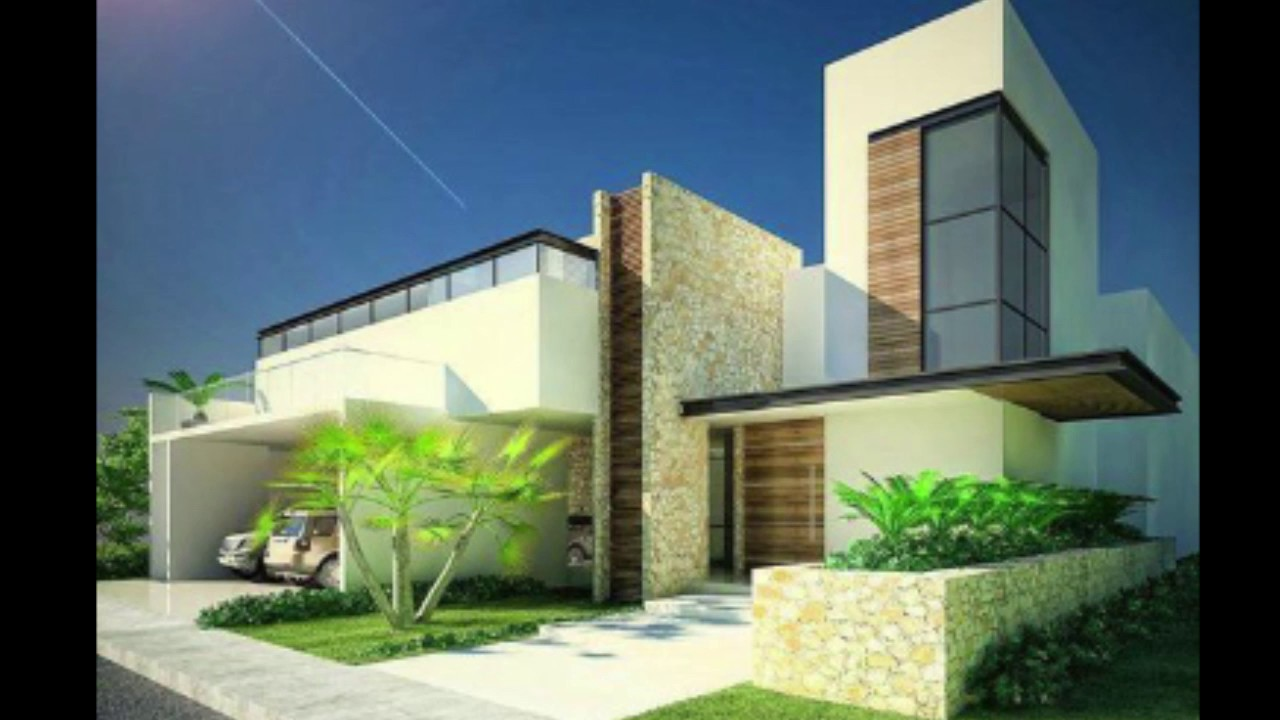 32 fachadas de casas modernas tend ncia 2018 modern for Fachadas frontales de casas modernas