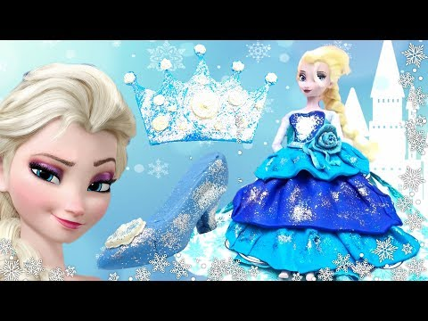 cf027a7d3c1 Disney Princess Play-Doh DRESS UP 👗👠 How To Make Sparkle Dress & Costumes  Change Shoes High Heels
