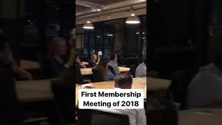 Snippet of our first meeting of 2018