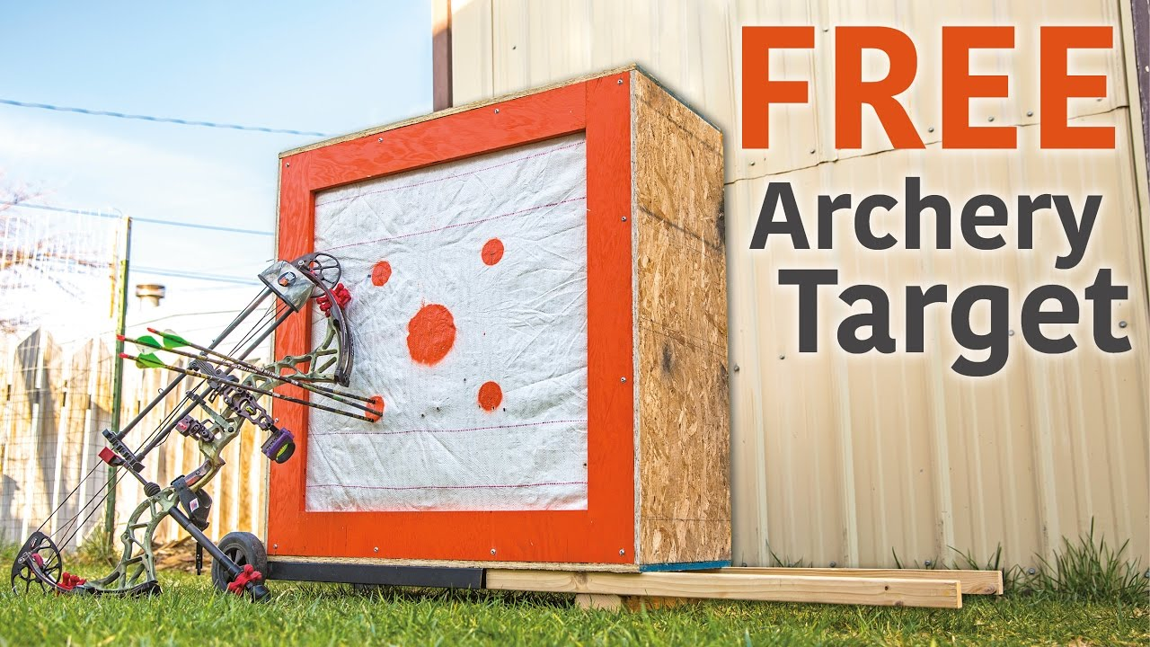 0e275872bca4 DIY Homemade Archery Target from Scrap Materials. - YouTube