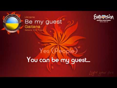 "Gaitana - ""Be My Guest"" (Ukraine) - [Karaoke version]"
