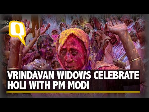 Vrindavan Widows Travels To Celebrate This Holi With PM Modi
