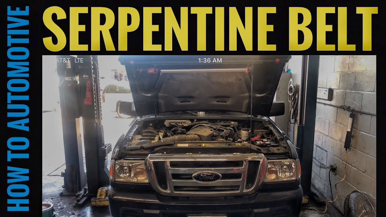 How To Replace The Serpentine Belt On A 2001 2012 Ford Ranger With 2008 4 0 V6 Engine Diagram Howtoautomotive Milwaukeetools Gearwrenchtools