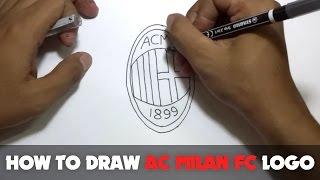 Cómo Dibujar una Caricatura - AC Milan FC Logo (Tutorial Paso a Paso)