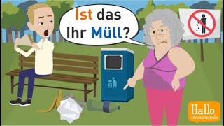 تعلم اللغة الألمانية: توضيح بسيط لضمائر الملكية وأدوات الملكية/ المفردات والقواعد.