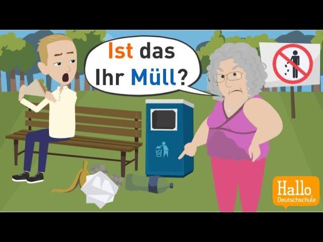 Deutsch lernen | Possessivartikel und Possessivpronomen einfach erklärt | Wortschatz & Grammatik