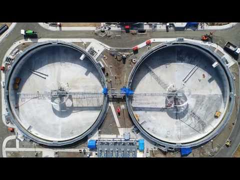 Mangere BNR Waste Water Treatment Plant progress