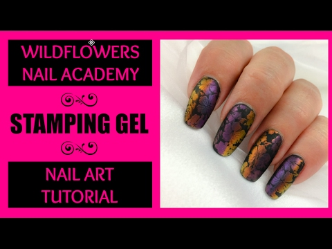 Wildflowers Nail Academy Stamping Gel Tutorial