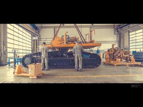 Pásové Rýpadlo Cat 345B - Image Video Z Přestavby (FULL HD)