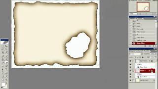 3 Жжёная бумага photoshop