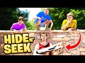 Nerf Hide And Seek TAG - Last To Get Tagged Loses!