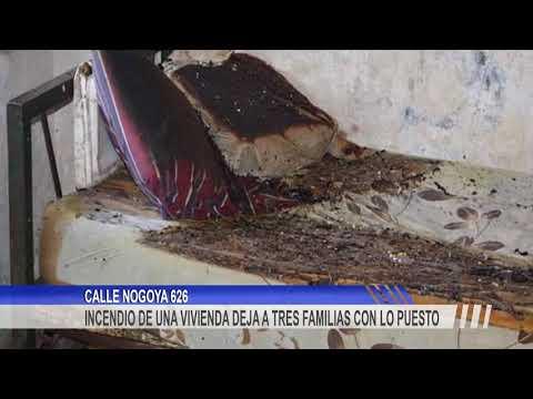 Una mujer y su hijo fueron hospitalizados tras inhalar humo producto del incendio de su vivienda