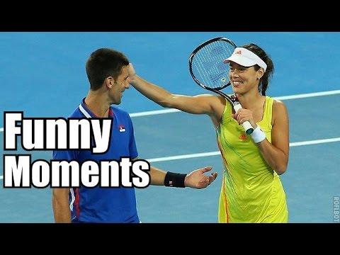 Ana Ivanovic , Novak Djokovic Fuuny Moments